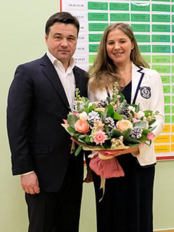 С губернатором МО Андреем Воробьевым