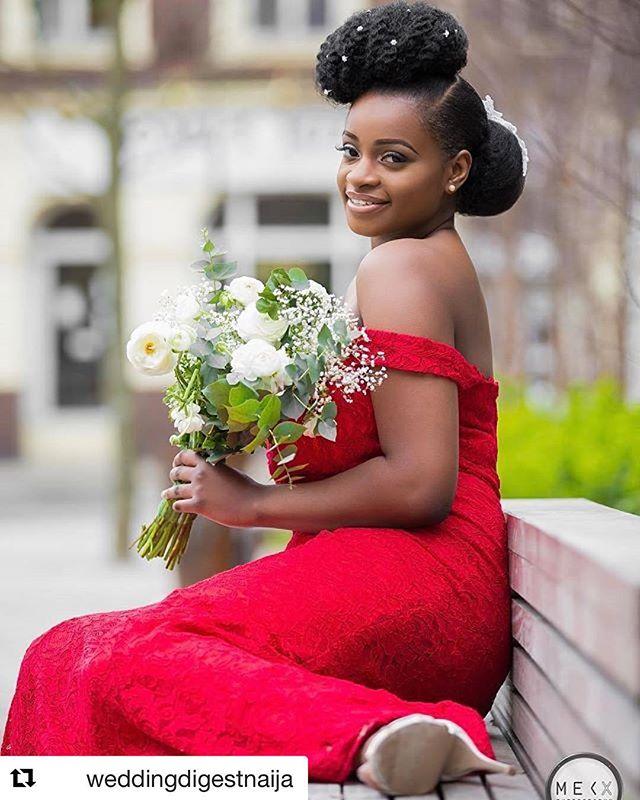 Massive thankyou to _weddingdigestnaija for the repost! _Model_ _missaudreybee 😍_Makeup Artist_ me
