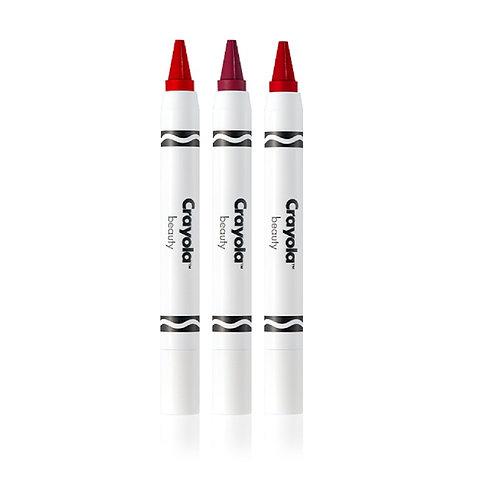 Crayola Crayon Trio Romantic Reds - Strawberry, Maroon, Red
