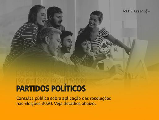 PARTIDO POLÍTICO: Participe da consulta pública sobre a aplicação das resoluções nas Eleições 2020