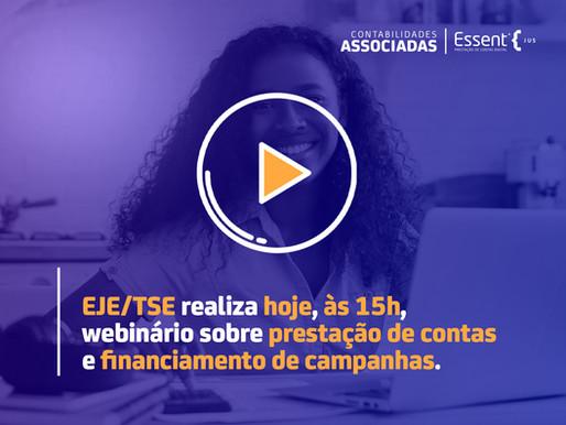 EJE/TSE realiza hoje, às 15h, webinário sobre prestação de contas e financiamento de campanhas
