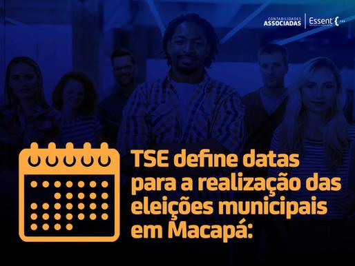 TSE define datas para a realização das eleições municipais em Macapá: 6 e 20 de dezembro