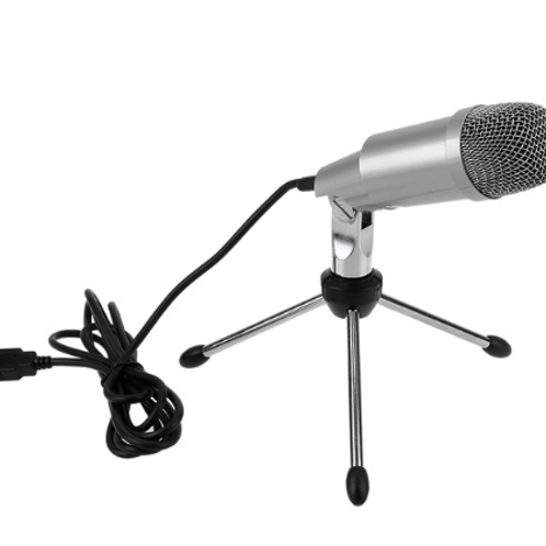 K-2 Professional Condenser Microphone for Computer PC Laptop Recording Singing U