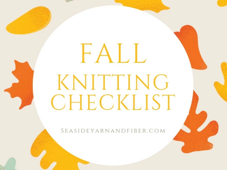 Fall Knitting Checklist