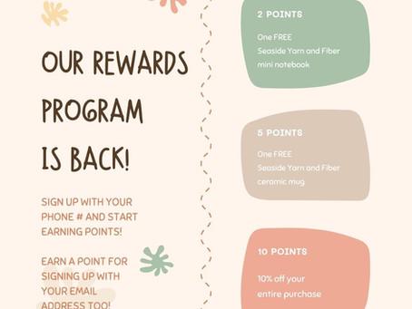 Loyalty Rewards are back!