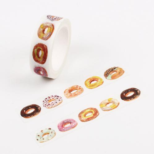 2 Rolls Original Donut Painting Washi Tape Adhesive Craft Tape DIY