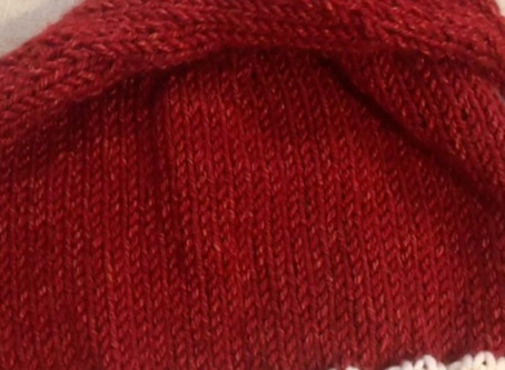Santa Hat Knit Beanie Pattern