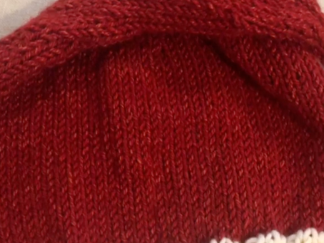 Santa Hat Knit Beanie Pattern