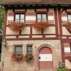 The half-timbered house