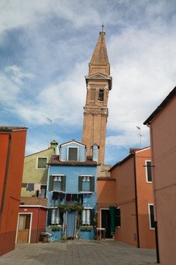 The Burano's Leaning Bell Towe