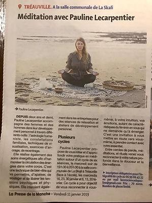 Méditation Normandie La Conscience de Pauline
