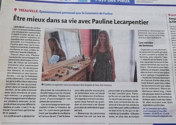Développement Personnel Normandie Cherbourg La Conscience de Pauline