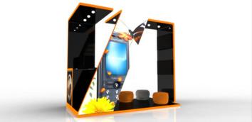 Desarrollo de Stand con imagen de Marca para venta de productos.
