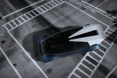 Render 3D. Desarrollo conceptual de vehiculo inteligente.