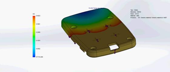 Simulación MoldFlow, carcaza plástica.
