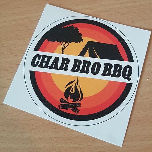 Char Bro BBQ Sticker - Small
