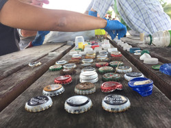 Counting bottle caps