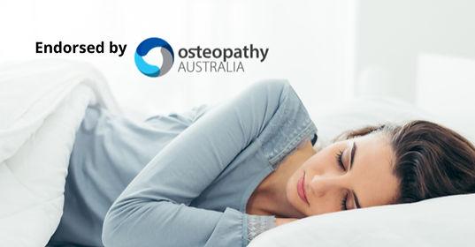 Woman sleeping on mattress
