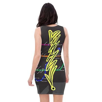 Subway Map Handstyle Dress