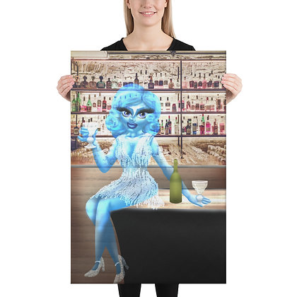 """""""The Blue Lady"""" Canvas"""