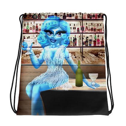 """The Blue Lady"" Drawstring bag"