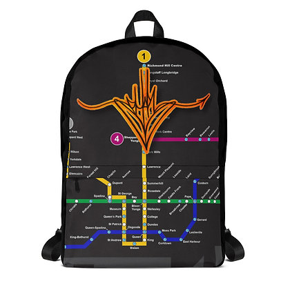 Subway Map Handstyle Backpack