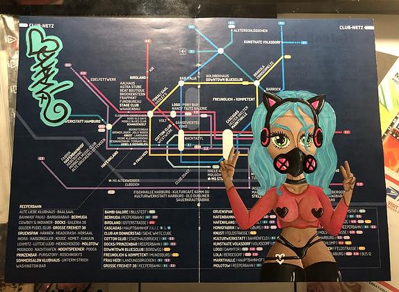 """No One Parties Like St. Pauli!"" Club Districts U-Ban Map of Hamburg"