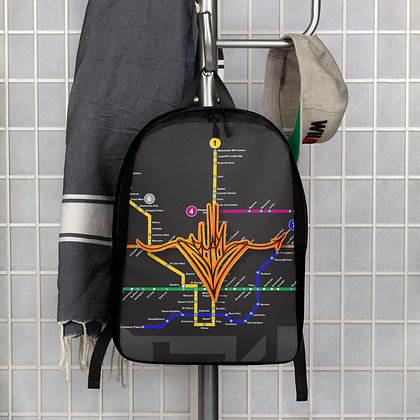 Subway Map Handstyle Minimalist Backpack