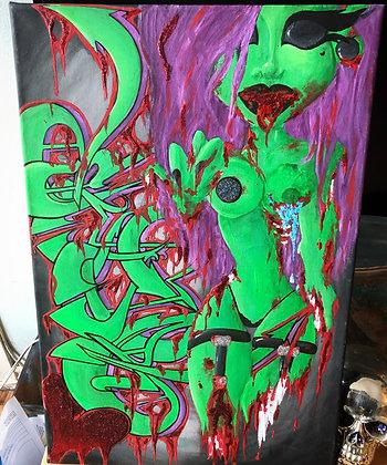 """Zombae"" Canvas"