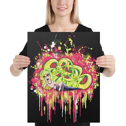 """Green Piece"" Canvas"