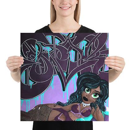 """""""Violet Seduction"""" Print"""