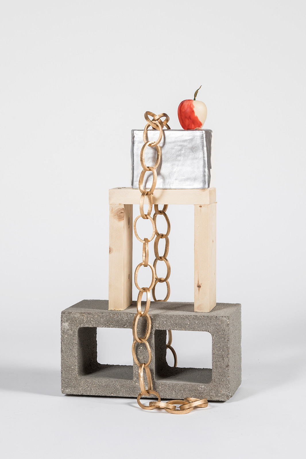 Silver, Chain and Apple