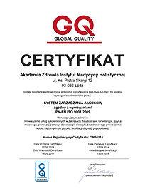 Certyfikat ISO pijawki lekarskie