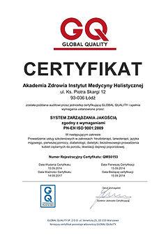 Hirudoterapia ceryfikat ISO