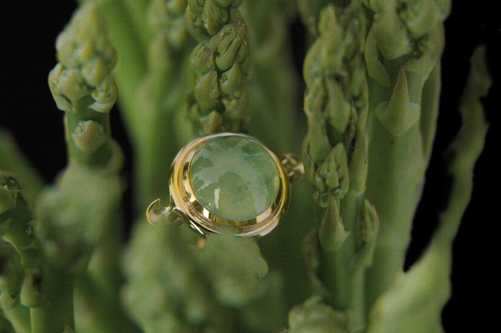 Heart of Water Prehnite Ring