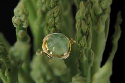 Heart of Water Prehnite Ring