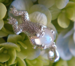 Frog Moon in Sterling Silver