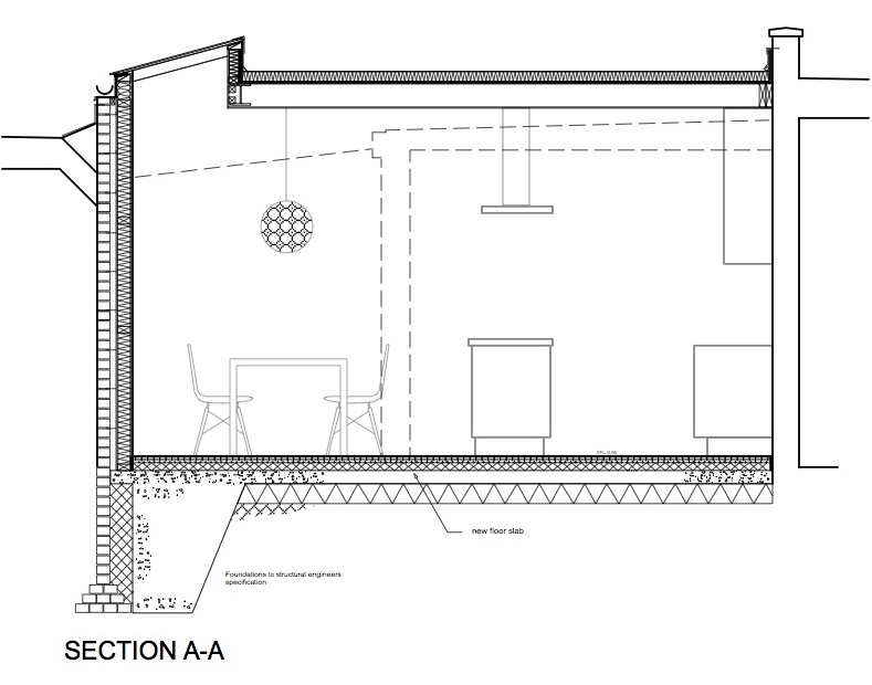 Long Section Kitchen