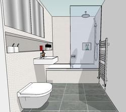 Bathroom sketch