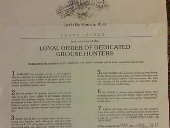 Loyal Order Of Dedicated Grouse Hunters