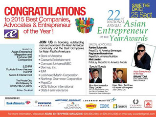 Congratulations to Brian Tom, Founder of CEC, for receiving the Asian Entrepreneur of the Year Award