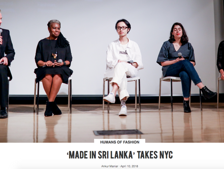 Made in Sri Lanka Takes NYC