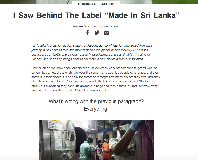 I Saw Behind The Label Made in Sri Lanka