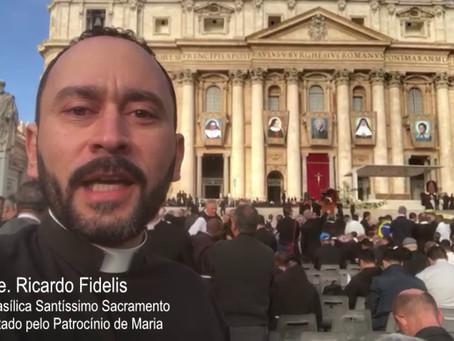 Pe. Ricardo Fidelis   Cerimônia de Canonização de Santa Dulce dos Pobres – Roma
