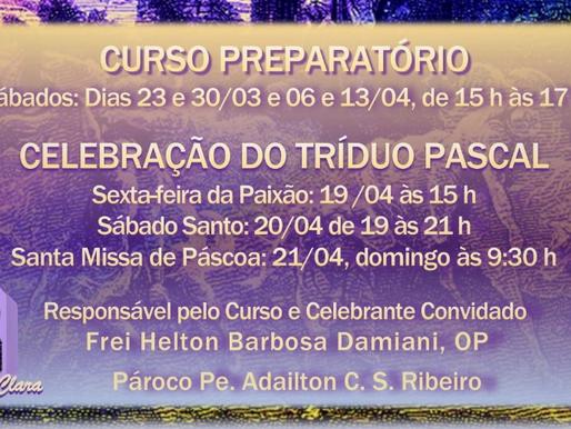 Comunidade Santa Clara promove curso gratuito preparatório para participação na celebração do Tríduo