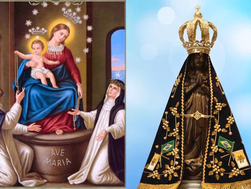 Festas Marianas do mês de outubro: Nossa Senhora do Rosário e Nossa Senhora da Conceição Aparecida