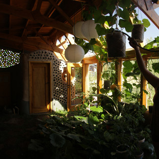 inside earthship