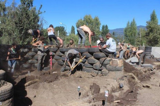 Earthship Project, Patagonia Argentina.