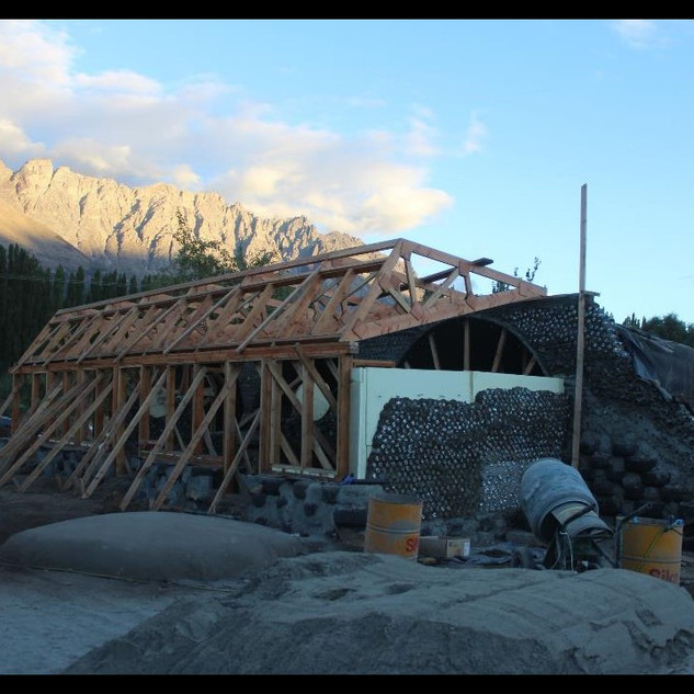 wooden structure building