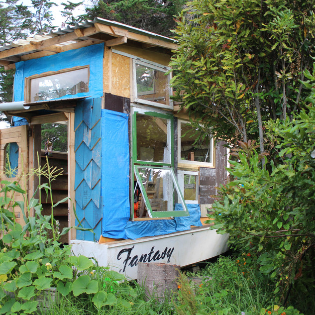Fantasy, small house in a boat, New Zealand